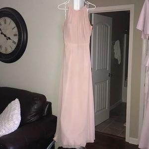 Blush pink bridesmaids dress